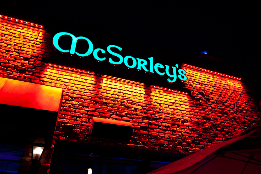 Led Lighting designs, McSorleys Fort Lauderdale Beach Pub